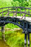 Japanese Garden Bridge. In Wroclaw, poland Royalty Free Stock Photo
