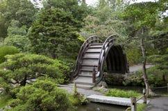 Japanese garden bridge. Beautiful wooden bridge in Japanese Tea House San Francisco Royalty Free Stock Photography