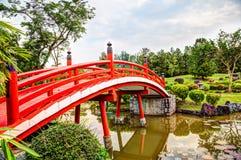 Japanese Garden Bridge In Singapore Stock Photo