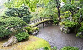 Japanese Garden, Bridge, Japan Travel Stock Photography