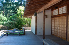 Japanese garden building Royalty Free Stock Photo