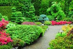 Japanese garden in butchart ga Royalty Free Stock Photography