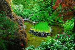 Japanese garden in butchart gardens Stock Photo