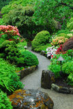 Japanese garden in butchart gardens. The japanese garden inside the historic butchart gardens (over 100 years in bloom), vancouver island, british columbia royalty free stock image