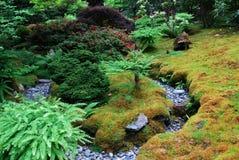 Japanese garden in butchart gardens Royalty Free Stock Image