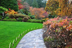 Japanese garden in butchart gardens Stock Images