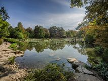 Japanese garden at the Centennial Hall in Wroclaw. Poland stock images