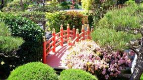 Japanese garden in Monaco stock photo