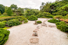 Japanese Garden at Chicago Botanic Garden. Royalty Free Stock Photo