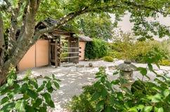 Japanese Garden at Chicago Botanic Garden. Stock Photo