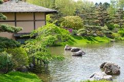 Japanese garden at the Chicago Botanic Gardens Stock Photos