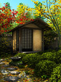 Japanese garden stock illustration