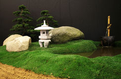Japanese garden decorations still life Royalty Free Stock Photography