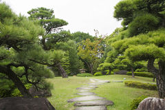 Japanese garden in early autumn, Himeji Royalty Free Stock Images