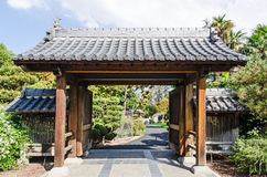 Japanese garden - entrance gate Royalty Free Stock Image