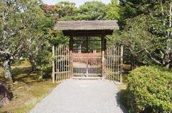 Japanese garden entrance Royalty Free Stock Photo