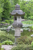 Japanese Garden, exotic plants, stone lantern, Wroclaw, Poland Stock Images