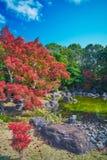 Japanese garden of Expo`70 commemorative park. Osaka, Japan - November 17, 2018: Japanese garden of Expo`70 commemorative park in autumn, shot in Osaka, Japan stock photography