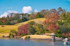 Japanese garden of Expo`70 commemorative park. Osaka, Japan - November 17, 2018: Japanese garden of Expo`70 commemorative park in autumn, shot in Osaka, Japan stock photo