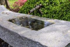 Japanese Garden Fountain Stock Photo