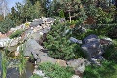 Japanese garden Royalty Free Stock Photo