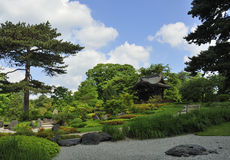Japanese garden. General view of the Japanese garden, Kew Gardens, London Stock Image
