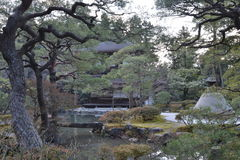 Japanese garden in ginkakuji (Silver Temple) - Kyoto Japan Royalty Free Stock Photography