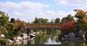Japanese Garden in Grand Rapids, MI Stock Photo