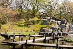 Japanese garden, early spring, Hasselt, Belgium Stock Images