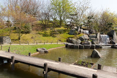Japanese garden, early spring, Hasselt, Belgium Royalty Free Stock Photography