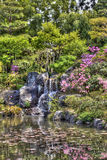 Japanese garden with HDR effect Royalty Free Stock Photography