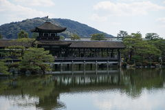 Japanese garden in Heian-jingu, Kyoto, Japan Stock Photo