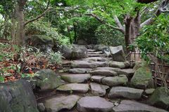 Japanese garden. It is a Japanese garden in Hiratsuka Comprehensive Park in Hiratsuka City, Kanagawa Prefecture, Japan. It is a wonderful garden that expresses Royalty Free Stock Image