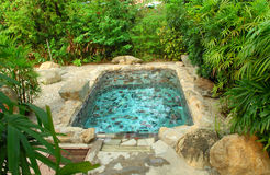Japanese garden hot spring Stock Photos