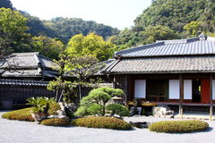 The Japanese Garden and House Royalty Free Stock Images