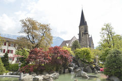 Japanese garden Interlaken. Garden of Friendship. Switzerland, Europe Royalty Free Stock Images