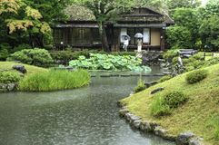 Japanese Garden Isuien In Nara Stock Image