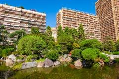 Japanese Garden in Monte Carlo, Monaco. Japanese Garden or Jardin Japonais is a municipal public park in Monte Carlo in Monaco royalty free stock images