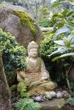 meditating Buddha sculpture Stock Photos