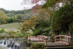 Japanese garden,Keishuen Japanese Garden Saga,Japan.  Royalty Free Stock Image