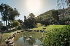 Japanese Garden at Kibbutz Hephzibah Royalty Free Stock Photos