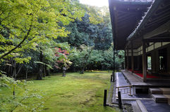 Japanese garden in Koto-in temple- Kyoto, Japan Royalty Free Stock Images