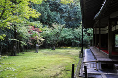 Japanese garden in the Koto-in temple- Kyoto, Japan royalty free stock image
