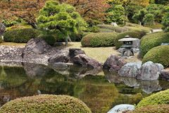 Japanese garden, Kyoto Stock Images