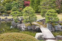 Japanese garden in Kyoto Stock Photos