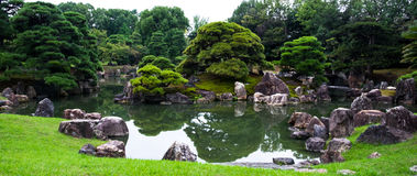 Japanese garden in Kyoto, Japan Royalty Free Stock Image