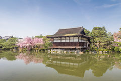 Japanese Garden in Kyoto Stock Images