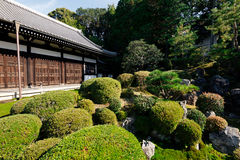 Japanese Garden in Kyoto Royalty Free Stock Photography