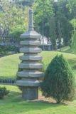 Japanese garden with lake. Stock Photos