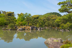 Japanese garden and a lake travel in japan Royalty Free Stock Photos